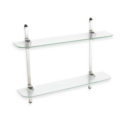 John Sterling Two-Tier Decorative Glass Shelf Kit