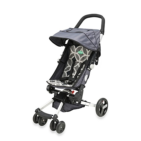 QuickSmart®  Easy Fold Four Wheel Stroller in Grey