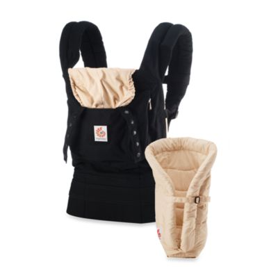 Ergobaby® Original Collection Bundle of Joy Carrier in Black/Camel with Camel Infant Insert