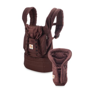 Ergobaby® Organic Collection Bundle of Joy Dark Chocolate Carrier with Chocolate Infant Insert