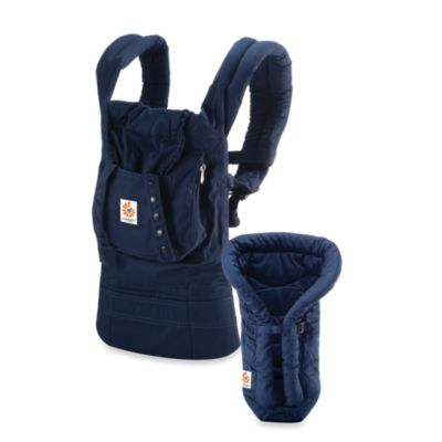 Ergobaby® Organic Collection Bundle of Joy Carrier in Navy with Navy Infant Insert