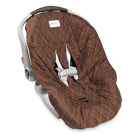 Nomie Baby® Infant Car Seat Cover in Brown/Blue
