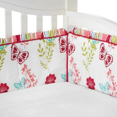 NoJo® Alexis Garden 4-Piece Crib Bumper Set