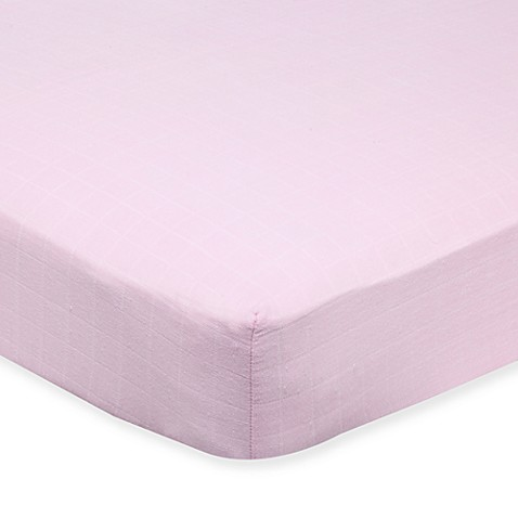 aden™ by aden + anais® Muslin Crib Sheet in Solid Pink