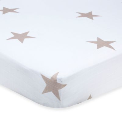 aden™ by aden + anais® Muslin Crib Sheet in Super Star Scout Fawn