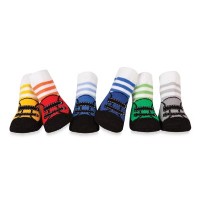 Trumpette Boys 6-Pack Size 0 to 12 Months Striped Socks