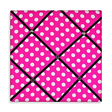 Rock Your Room Ribbon Memo Board in Pink Dots
