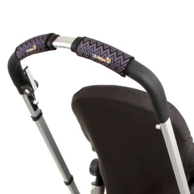 CityGrips Single Handlebar Stroller Grip Covers in Zig Zag Black & White