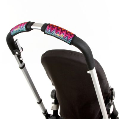 CityGrips Single Handlebar Stroller Grip Covers in Zig Zag Color