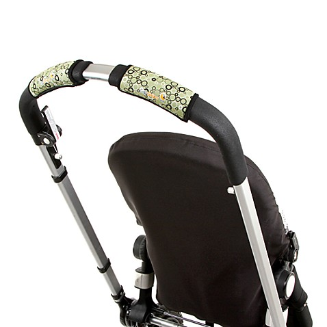 CityGrips Single Handlebar Stroller Grip Covers in Circle Green