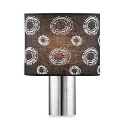 Zuo® Accents Twilight 1-Light Black Chrome Table Lamp