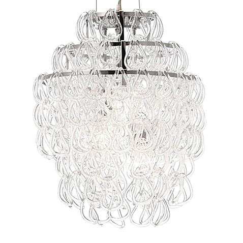 Zuo® Accents Cascade 3-Light Chrome Ceiling Lamp