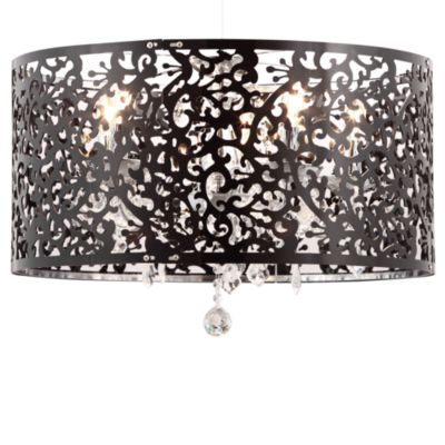 Zuo® Accents Nebula 5-Light Black Ceiling Lamp