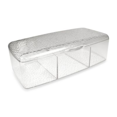 InterDesign® Vanity Organizer!™ Rain Clear Vanity Box with Lid