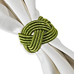 Braided Cord Napkin Ring in Apple Green