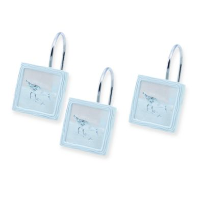 Avanti Blue Waters Sea Bird Shower Curtain Hooks