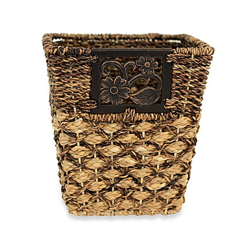 Avignon Wicker Wastebasket