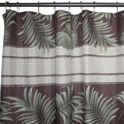 Rattan Palm 70-Inch x 70-Inch Fabric Shower Curtain