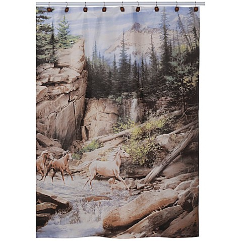 Buy Horse Canyon Fabric Shower Curtain From Bed Bath Beyond