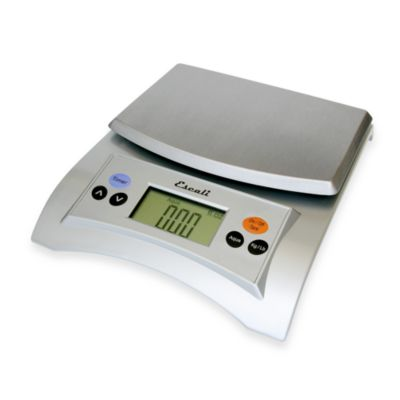 Escali Aqua 11-Pound-Capacity Multipurpose Digital Scale in Silver