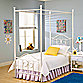 Hillsdale Furniture Westfield Canopy Metal Bed Set with Canopy Kit and Rails