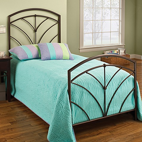Hillsdale Thompson Twin Duo Panel Bed Set with Rails