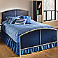 Hillsdale Universal Twin Duo Panel Bed Set with Rails
