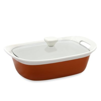 CorningWare® Etch™ 2 1/2-Quart Casserole Dish in Brick