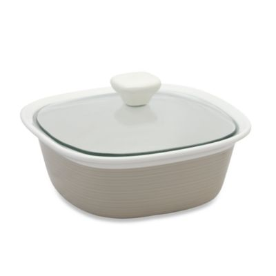 CorningWare® Etch™ 1-1/2-Quart Casserole Dish in Sand