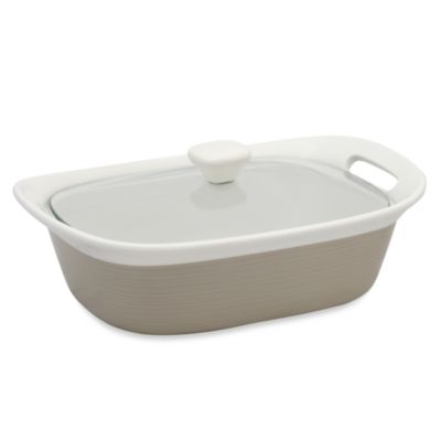 CorningWare® Etch™ 2 1/2-Quart Casserole Dish in Sand