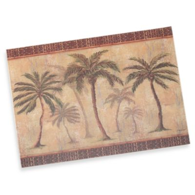 Palm Tree 12-Inch x 15-Inch Tempered Glass Cutting Board
