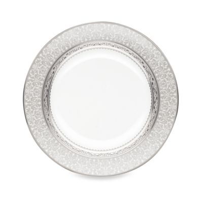 Grey White Accent Plate