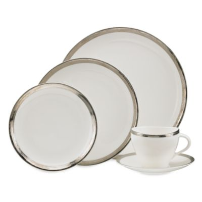 Oleg Cassini Platinum Zen 5-Piece Place Setting