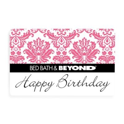 """Happy Birthday"" Pink Toile Gift Card $100"