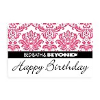 Happy Birthday Pink Toile Gift Card $100.00