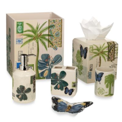 Croscill Butterfly Palm Lotion Dispenser
