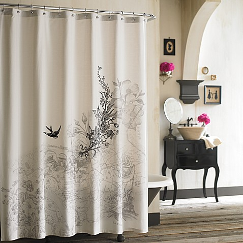 Anthology Amour Fabric Shower Curtain