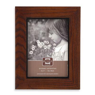 Prinz Adler 5-Inch x 7-Inch Wood Picture Frame in Walnut