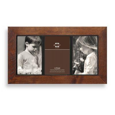Prinz Adler 3-Opening 4-Inch x 6-Inch Wood Frame in Walnut