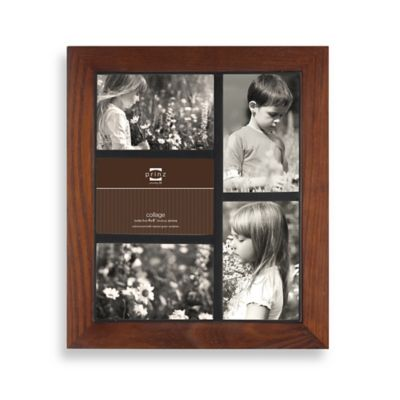 Prinz Adler 5-Opening 4 inches x 6 inches Wood Frame in Walnut