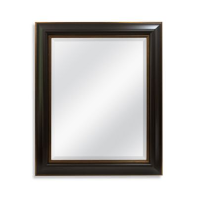 29-Inch x 35-Inch Wall Mirror with Bronze in Espresso