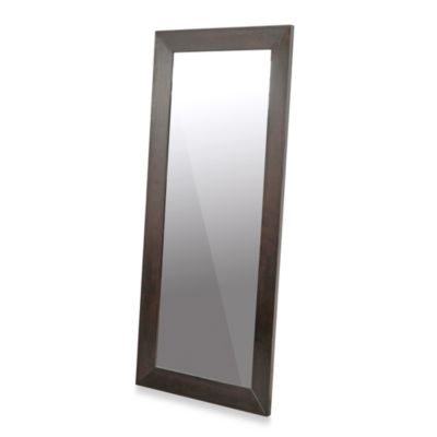 Daffodil Dark Brown Wood Frame Leaner Mirror