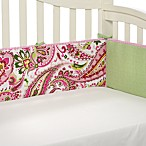 My Baby Sam Paisley Splash Crib Bumper in Pink