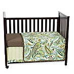 My Baby Sam Paisley Splash 3-Piece Crib Bedding Set in Lime