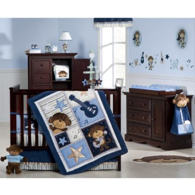Carter's® Monkey Rockstar 4-Piece Crib Bedding Set