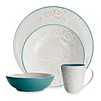Noritake® Colorwave Turquoise Bloom Coupe 4-Piece Place Setting
