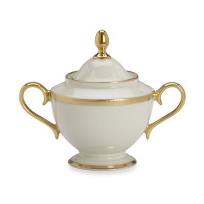 Lenox® Tuxedo 4 3/4-Inch Covered Sugar Bowl