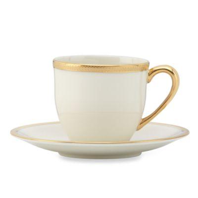 "Lenox® Tuxedo 4-Ounce Demi Cup & 4 4/5"" Saucer Set"