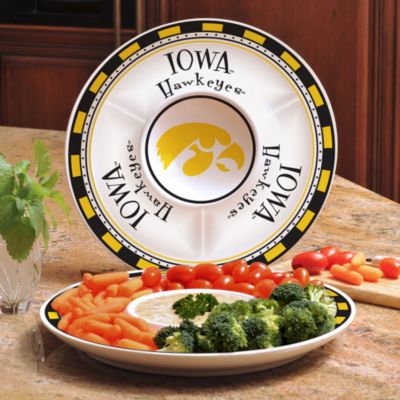 University of Iowa Gameday Ceramic Chip and Dip Server