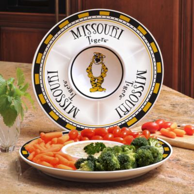 University of Missouri Gameday Ceramic Chip and Dip Server